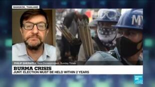 2021-04-09 12:11 Myanmar junta says protests against its rule are 'dwindling'