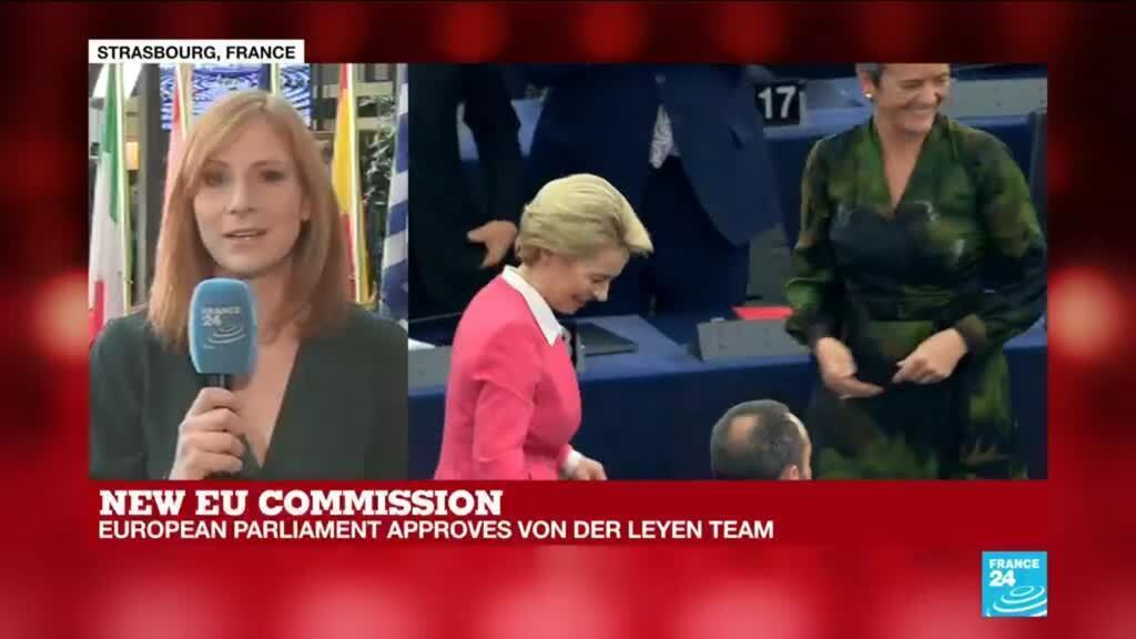 2019-11-27 12:37 EU parliament approves new commission team led by Von Der Leyen