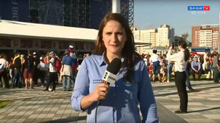 Julia Guimarães était en position pour passer en direct sur SporTV.