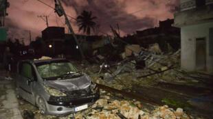 Una de las zonas afectadas por el tornado en el vecindario de Luyano, en La Habana, Cuba, el 28 de enero de 2019.