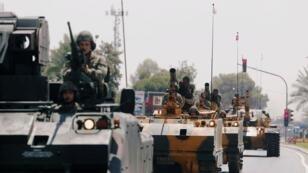 مدرعات تابعة للجيش التركي خلال عرض عسكري. 20 يوليو/تموز 2018.