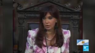 La expresidenta de Argentina, Cristina Fernández de Kirchner.