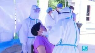 2020-06-16 07:37 La Chine s'inquiète de nouveaux cas de Covid-19 à Pékin, un marché et 7 quartiers fermés