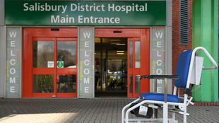 Fachada del Hospital Distrital de Salisbury, a donde fue ingresado Serguéi Skripal.
