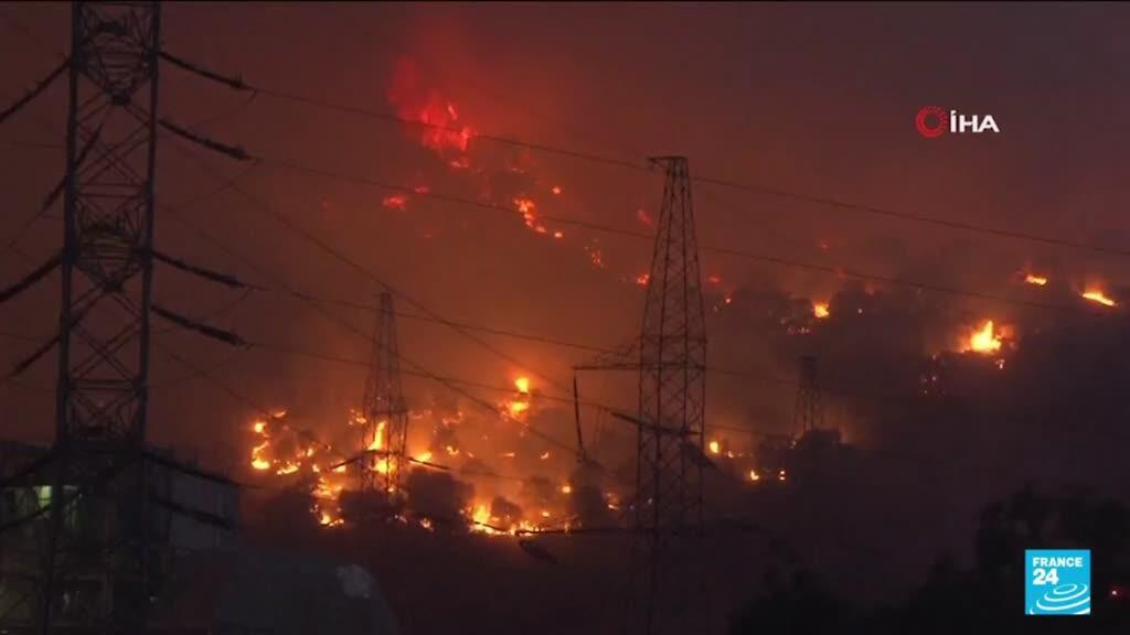2021-08-05 14:08 Turkey's wildfires rage-on for the 9th day in a row