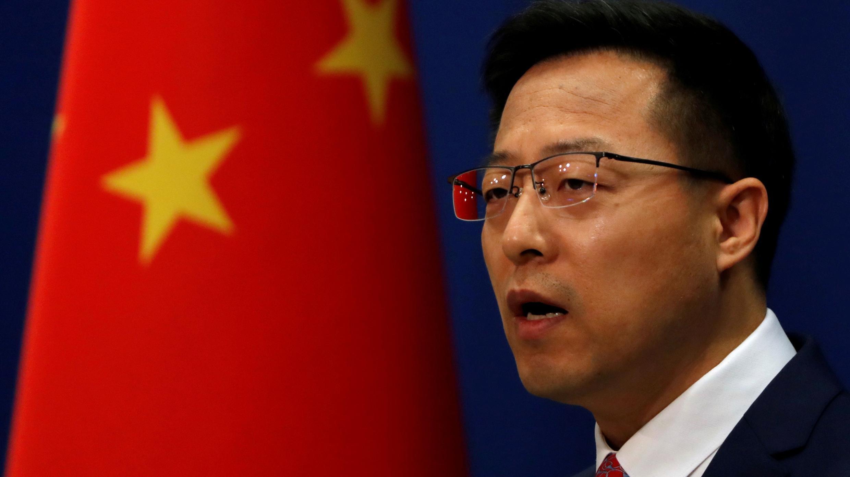 El portavoz del Ministerio de Relaciones Exteriores de China, Zhao Lijian, habla en una conferencia de prensa en Beijing, China, el 8 de abril de 2020. Foto de archivo.