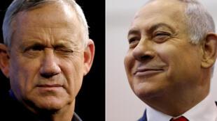 Netanyahu-Gantz-Israel-BlueAndWhite-LikudParty1