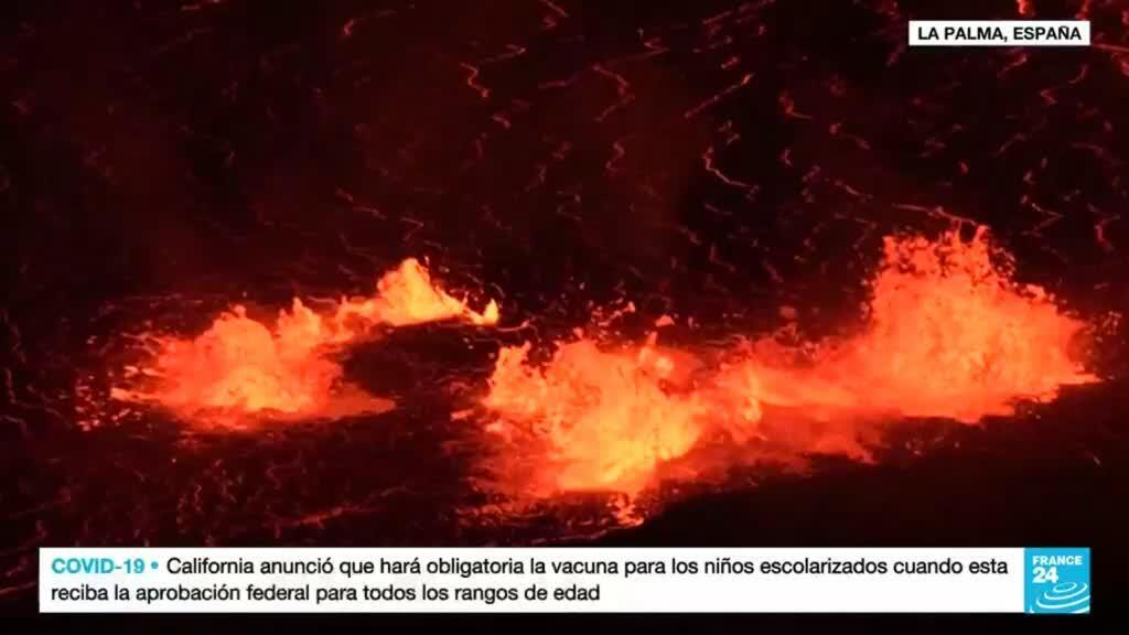 2021-10-02 01:05 Nuevos caminos para el incesante flujo de lava del volcán Cumbre Vieja