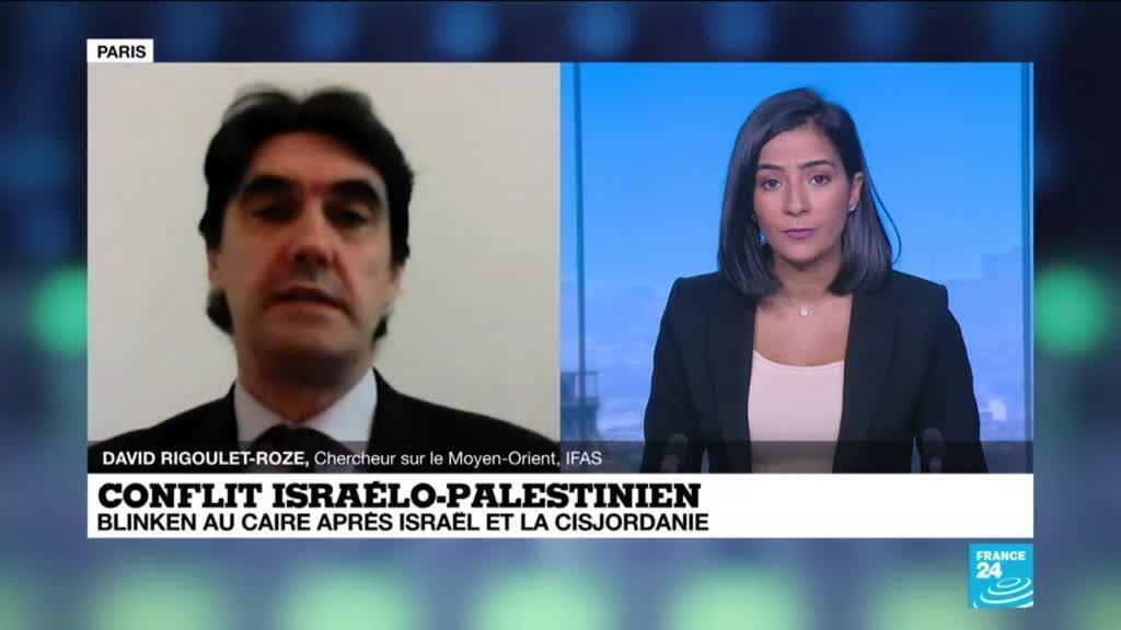 """2021-05-26 14:11 A. Blinken au Proche-Orient: """"Les Etats-Unis cherchent surtout à pérenniser le cessez-le-feu"""""""