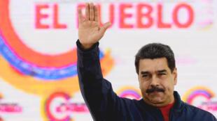 Le président vénézuélien Nicolas Maduro lors l'inscription des candidats à l'Assemblée constituante, à Caracas le 29 mai 2017.