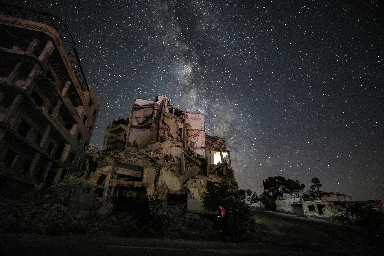 Ariha, en la  provincia siria de Idlib, al noroeste del país, ha sido golpeada por años de guerra y devastación. Imagen del 27 de junio de 2020.