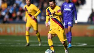 الأرجنتيني ليونيل ميسي خلال مباراة برشلونة وليغانيس، 23 نوفمبر/تشرين الثاني 2019.