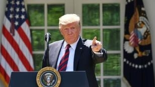 الرئيس الأمريكي دونالد ترامب في البيت الأبيض في واشنطن في 16 مايو/أيار 2019.
