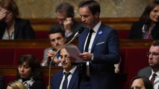 Le député LREM des Alpes-Maritimes Cédric Roussel, le 8 novembre 2017 à l'Assemblée