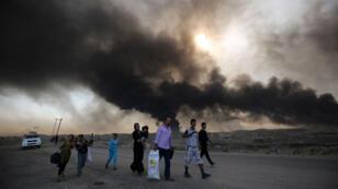 نازحون من مدينة الموصل