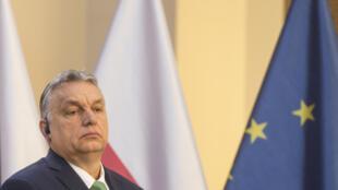صورة من الأرشيف لرئيس الحكومة المجري فيكتور أوربان، 4 آذار/مارس 2020