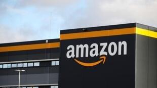 L'entrepôt d'Amazon à Brétigny-sur-Orge en novembre 2019