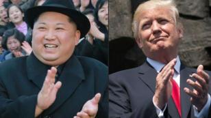 الرئيس الأمريكي دونالد ترامب (يمين)/الزعيم الكوري الشمالي كيم جونغ أون (يسار)