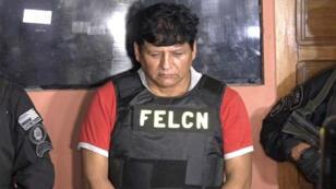 José Miguel Farfán, el argentino señalado por tráfico de drogas, tras ser detenido por las autoridades bolivianas en Santa Cruz el 13 de febrero de 2019.
