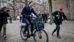 Dutch Prime Minister Mark Rutte arrives for the cabinet meeting