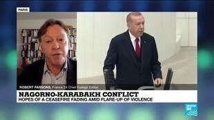 "2020-10-07 13:39 In Nagorno-Karabakh conflict, Erdogan eyes Turkey's ""place in world order"""
