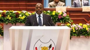 Le président Joseph Kabila devant le Parlement, le 16 novembre 2016 à Kinshasa.