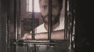 L'opposant vénézuélien Leopoldo Lopez dans sa cellule de la prison de Ramo Verde, le 8 juin 2014.