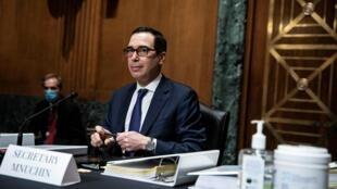 وزير الخزانة الأمريكي خلال جلسة استماع في واشنطن، في 10 كانون الأول/ديسمبر 2020.