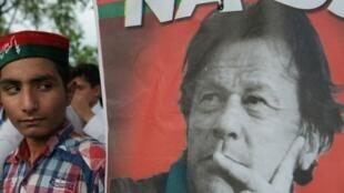 Una manifestación en apoyo a Imran Khan en Islamabad, el 26 de julio de 2018.