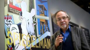 """L'auteur de """"Maus"""" Art Spiegelman en mars 2012 à Paris lors d'une exposition au Centre Pompidou"""