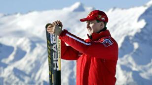Michael Schumacher à Madonna di Campiglio le 17 janvier 2003