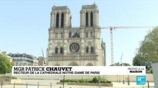 2020-04-15 11:12 Incendie de Notre-Dame : les travaux de la cathédrale au point mort