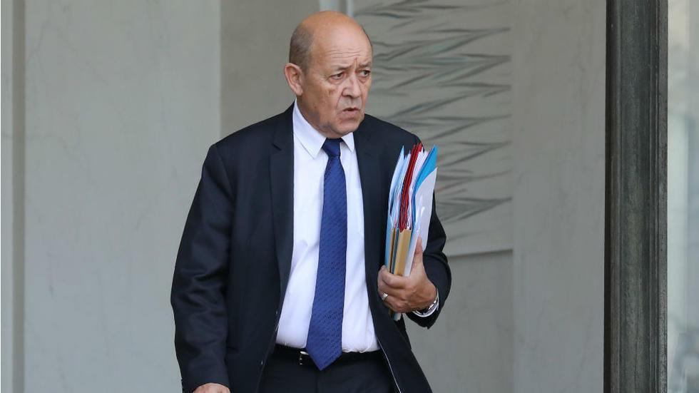 وزير الخارجية الفرنسية جان إيف لودريان. 24/11/2019