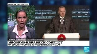 2020-09-29 17:33 UN security council to hold emergency talks on Nagorno-Karabakh conflict, FRANCE 24's Jessica Le Masurier reports