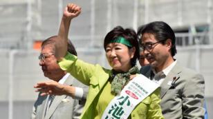 Yuriko Koike lors d'un rassemblement de campagne, le 30 juillet 2016 à Tokyo.
