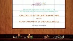 الجلسة الافتتاحية لمحادثات السلام في أفريقيا الوسطى 24 يناير/كانون الثاني 2019 في الخرطوم