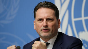 Former Commissioner-General of the United Nations Relief and Works Agency for Palestine Refugees, Pierre Krahenbuhl attends a news conference in Geneva, Switzerland January 29, 2019.