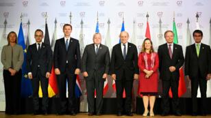 Les ministres des Affaires étrangères du G7 réunis, à Dinard, le 5 avril  2019.