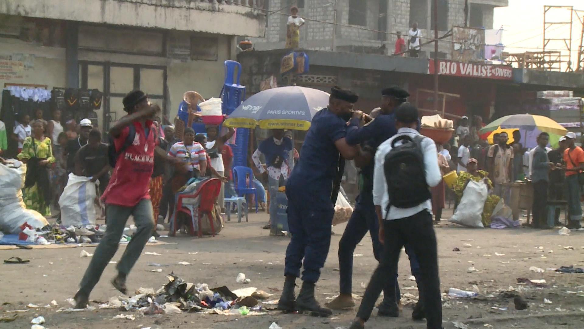 Une manifestation de l'opposition violemment réprimée en RD Congo