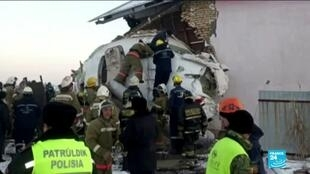 2019-12-27 14:36 At least 12 people died in Kasakhstan plane cras as aircraft hit concrete fence
