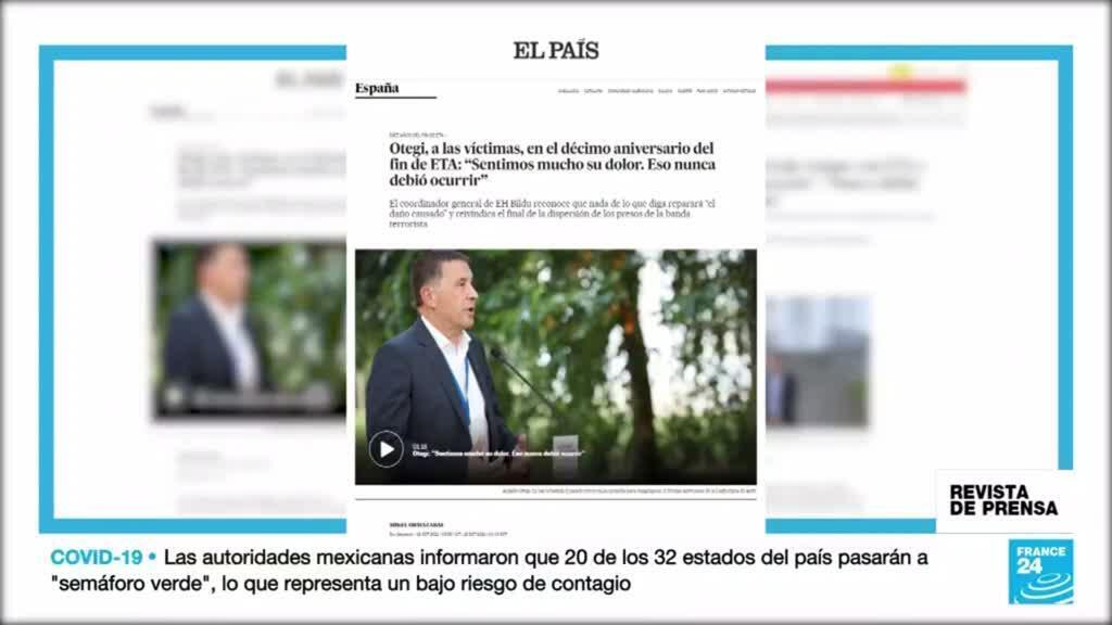 Cobertura de la prensa española, El País y eldiario.es, de la Declaración de la izquierda independentista vasca conmemorando los 10 años del fin de ETA.