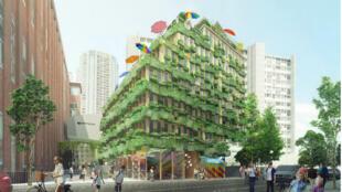 Edison, projet lauréat du cabinet Manuel Gautrand Architecture situé au 67-69, rue Edison dans le 13e.
