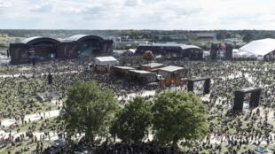 Le festival Hellfest à Clisson (Loire-Atlantique) le 21 juin 2019