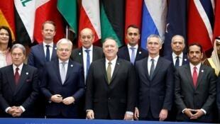 Les ministres des Affaires étrangères de la coalition anti-EI réunis à Washington le 14 novembre 2019.