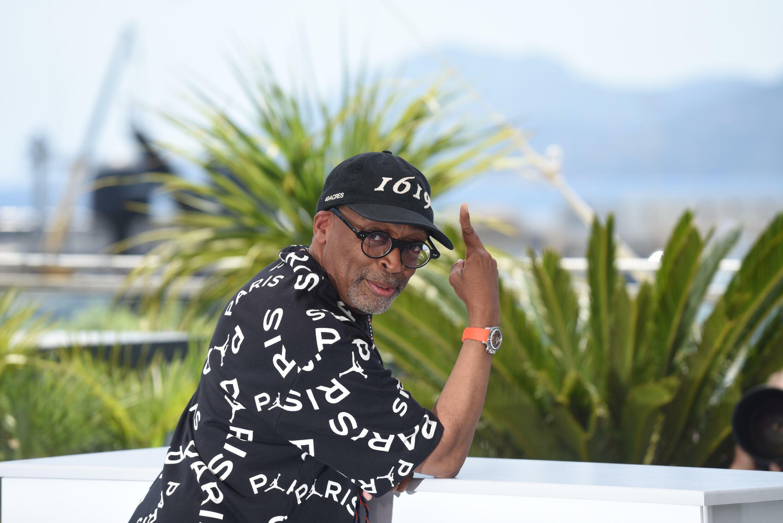 Spike Lee, lors de la conférence de presse d'ouverture du Festival de Cannes.