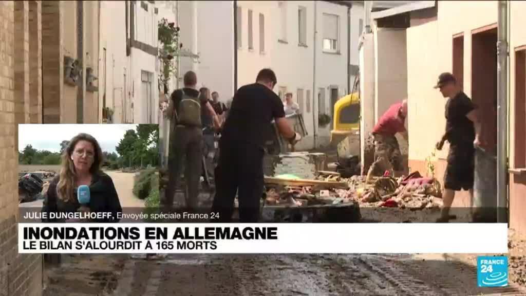 2021-07-19 11:10 Inondations en Allemagne : le bilan s'alourdit à 165 morts