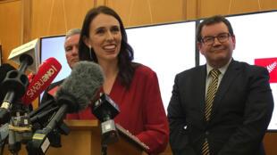 La premier de Nueva Zelanda, Jacinda Ardern, en un evento del Partido Laborista en Wellington