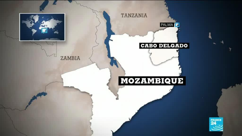 The northern Mozambique town of Palma, site of the deadly Islamist attack.