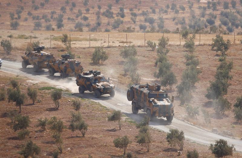 القوات التركية تتوغل شمال سوريا 8 أكتوبر 2017