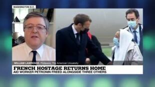 2020-10-09 21:09 Mali: French hostage returns home, alongside three others.